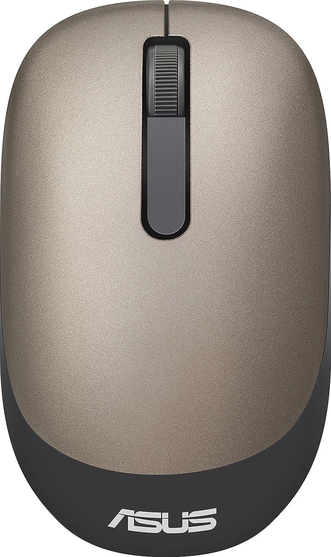 Asus WT205 - Ratón inalámbrico para Ordenador (1200 dpi, ergonómico, para Zurdos y diestros, para Ordenador portátil o de sobremesa), Dorado ...