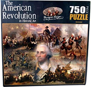 American History The Revolutionary War in Historic Art Jigsaw Puzzle (750-Piece)