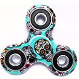 Wobbox Fidget Spinner High Speed 1-3 Min Smooth Spin with Lowest Sound and Light Weight Camouflage, Skull Green