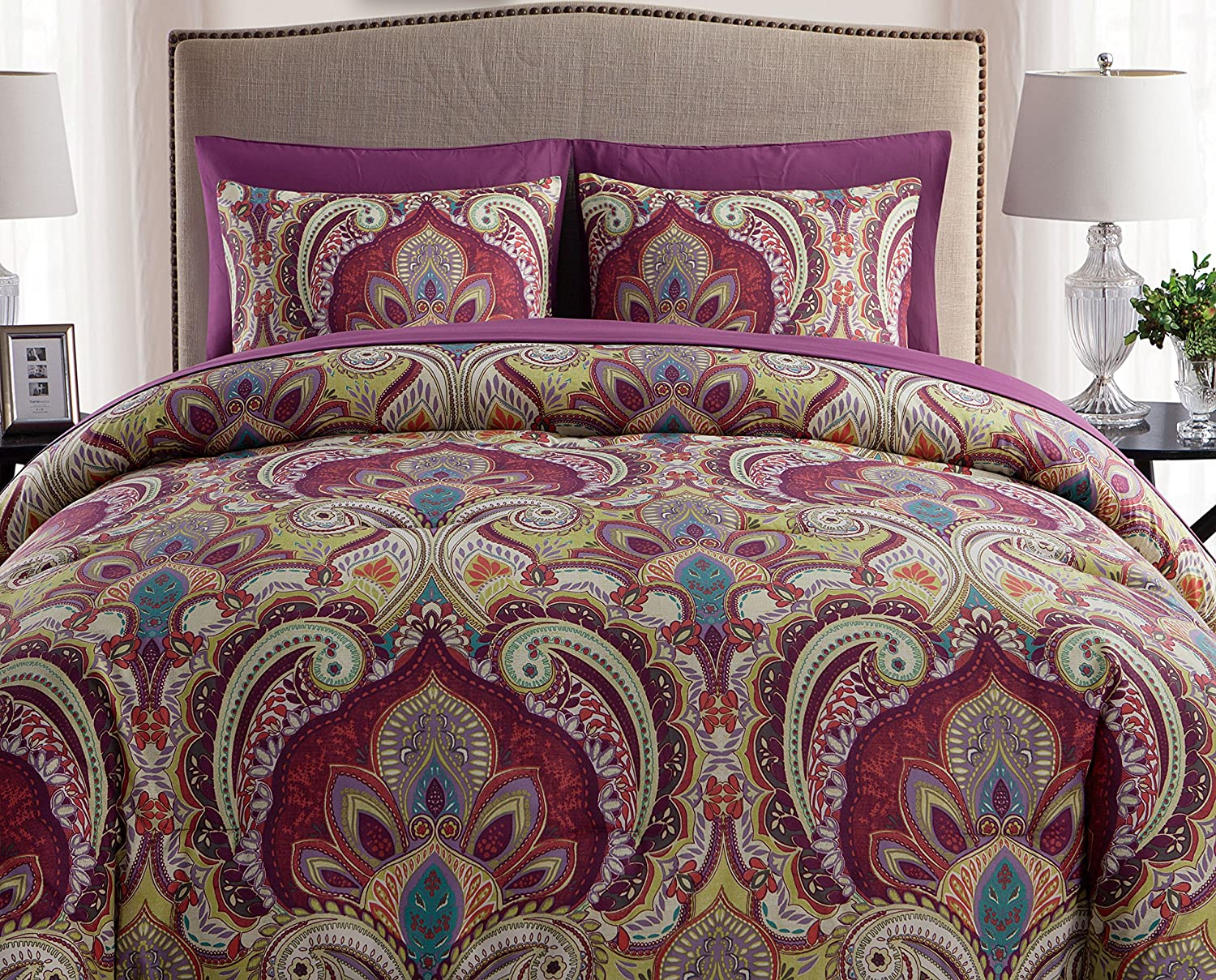Paisley 8pc Bed-in-a-Bag Comforter Set, King