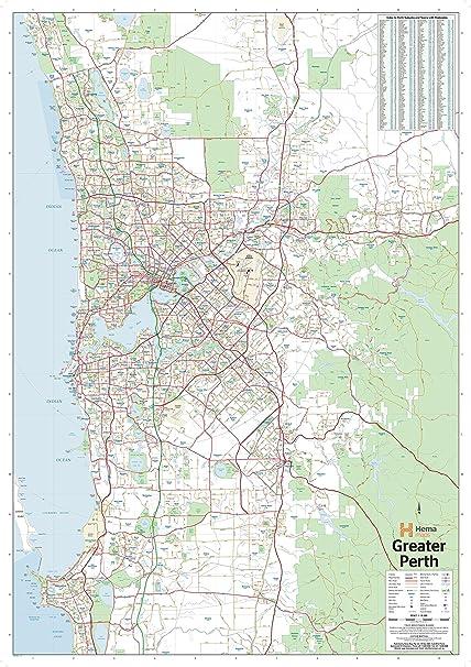 Map Perth Australia.Amazon Com Hema Maps Perth Australia Regional Supermap 40 5 X