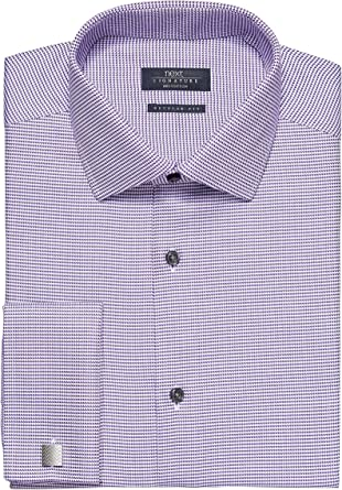next Hombre Camisa Signature Sin Plancha Corte Regular Puño Doble Morado Pata de Gallo EU 53 Regular (UK 21R): Amazon.es: Ropa y accesorios