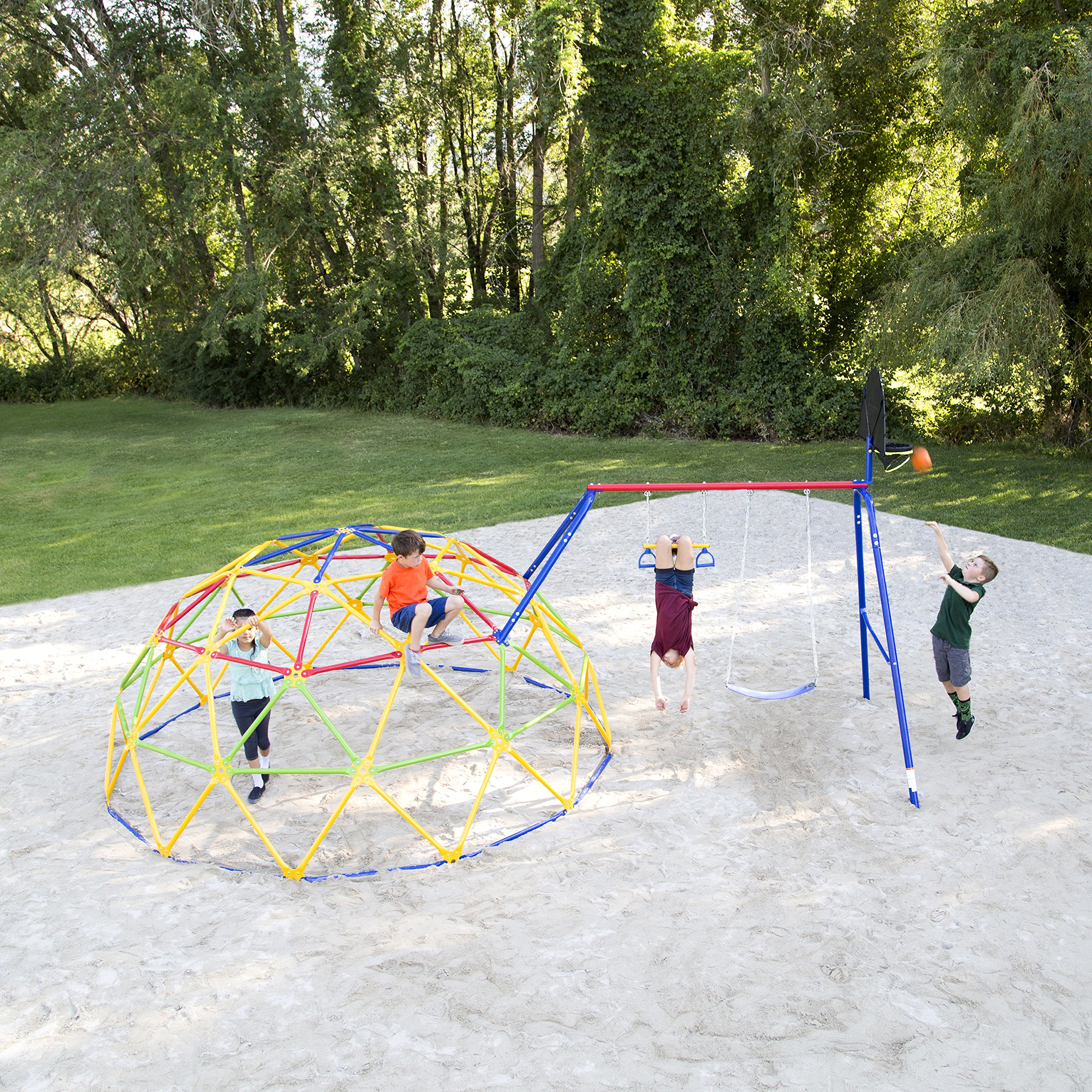 Skywalker Sports Geo Dome Climber with Swing Set by Skywalker Sports (Image #2)