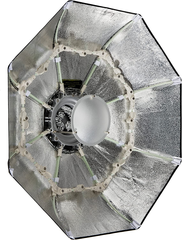 Silver, 34 Impact Folding Beauty Dish