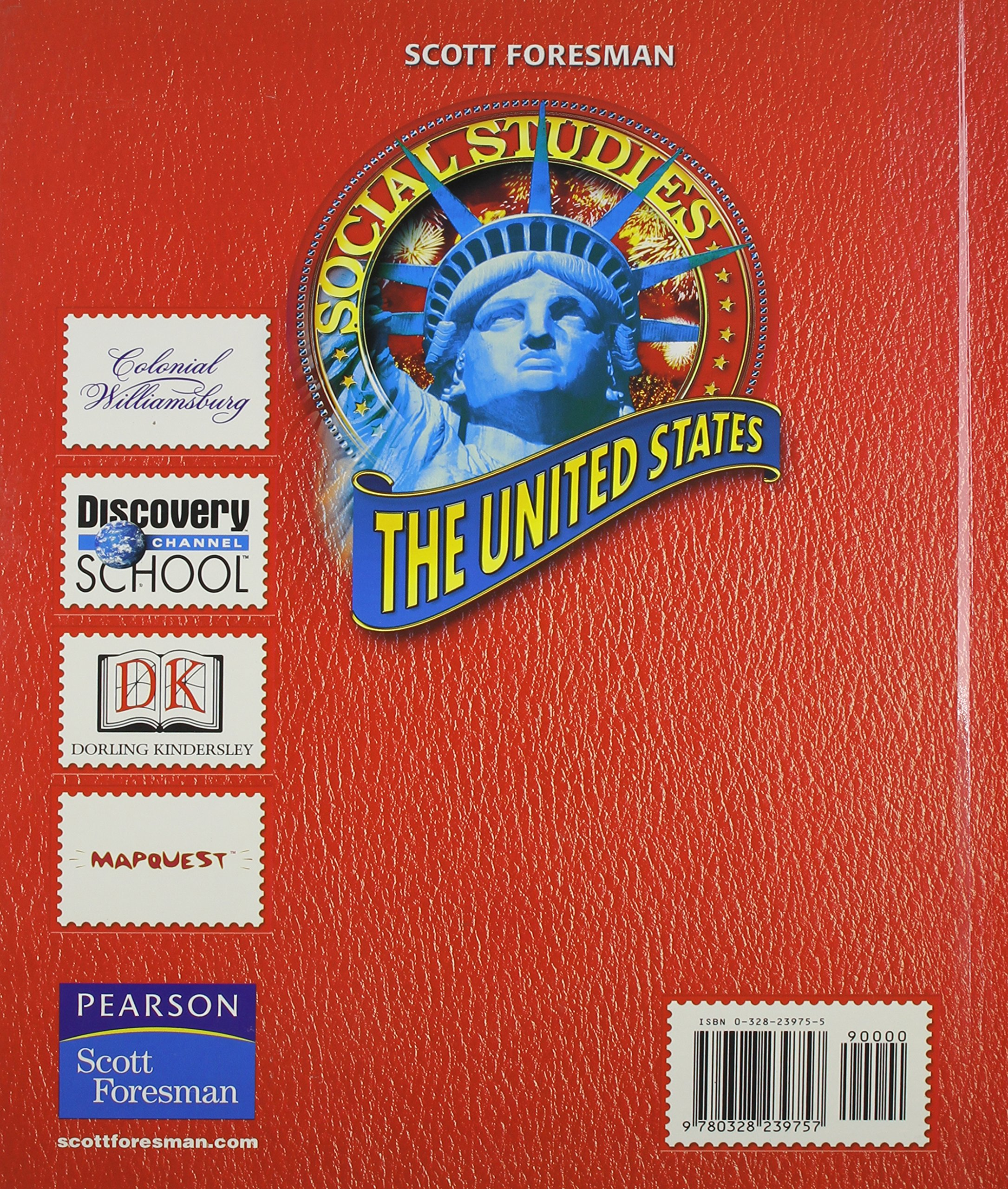 SOCIAL STUDIES 2008 STUDENT EDITION (HARDCOVER) GRADE 5 THE UNITED      STATES (Scott, Foresman Social Studies) by Scott Foresman (Image #2)