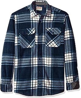 c708758b15c Wrangler Mens Long Sleeve Fleece Flannel Shirt (XL 46 48