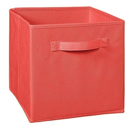 Beau ClosetMaid 1831 Cubeicals Fabric Drawer, Coral
