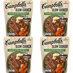 Campbell's Slow Cooker Sauces Tavern Style Pot Roast, 13 oz. Pouch (Pack of 6) - SET OF 4