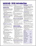 Microsoft InfoPath 2010 Introduction Quick Reference Guide (Cheat Sheet of Instructions, Tips & Shortcuts - Laminated Card)