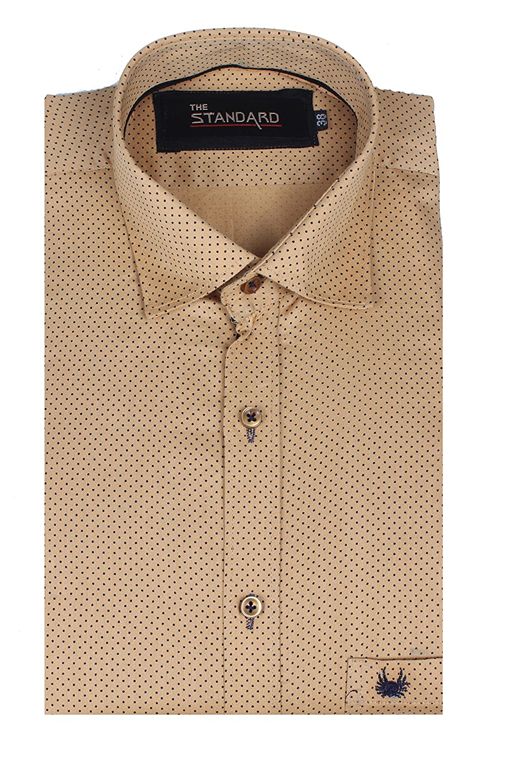The Standard Men's Casual Wear, Dotted Mustard Shirt (SKU0002 ...