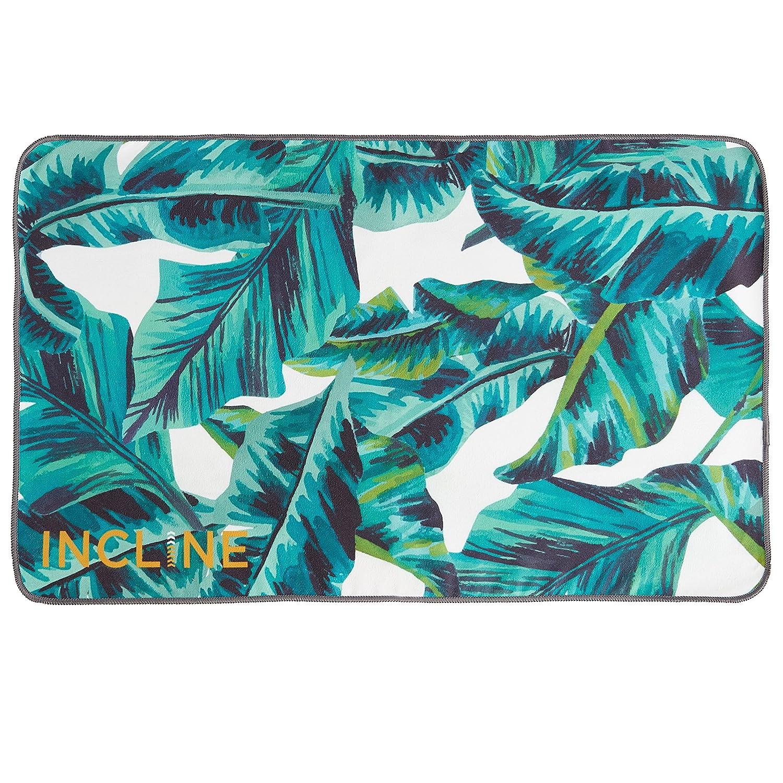 Incline Fit Steigung Passform Yoga Handtuch Unisex Tropical Palm Leaf Einheitsgröße Pht-7224-TPL