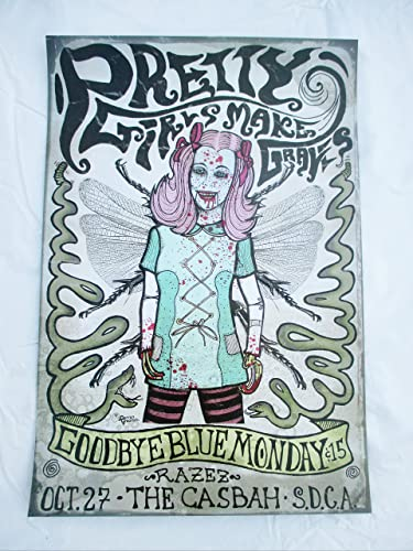 2005 pretty girls make graves concert poster zombie girl at amazon s