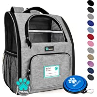 PetAmi Deluxe Pet Carrier Backpack for Small Cats and Dogs, Puppies | Ventilated Design, Two-Sided Entry, Safety Features and Cushion Back Support | for Travel, Hiking, Outdoor Use (Heather Gray)
