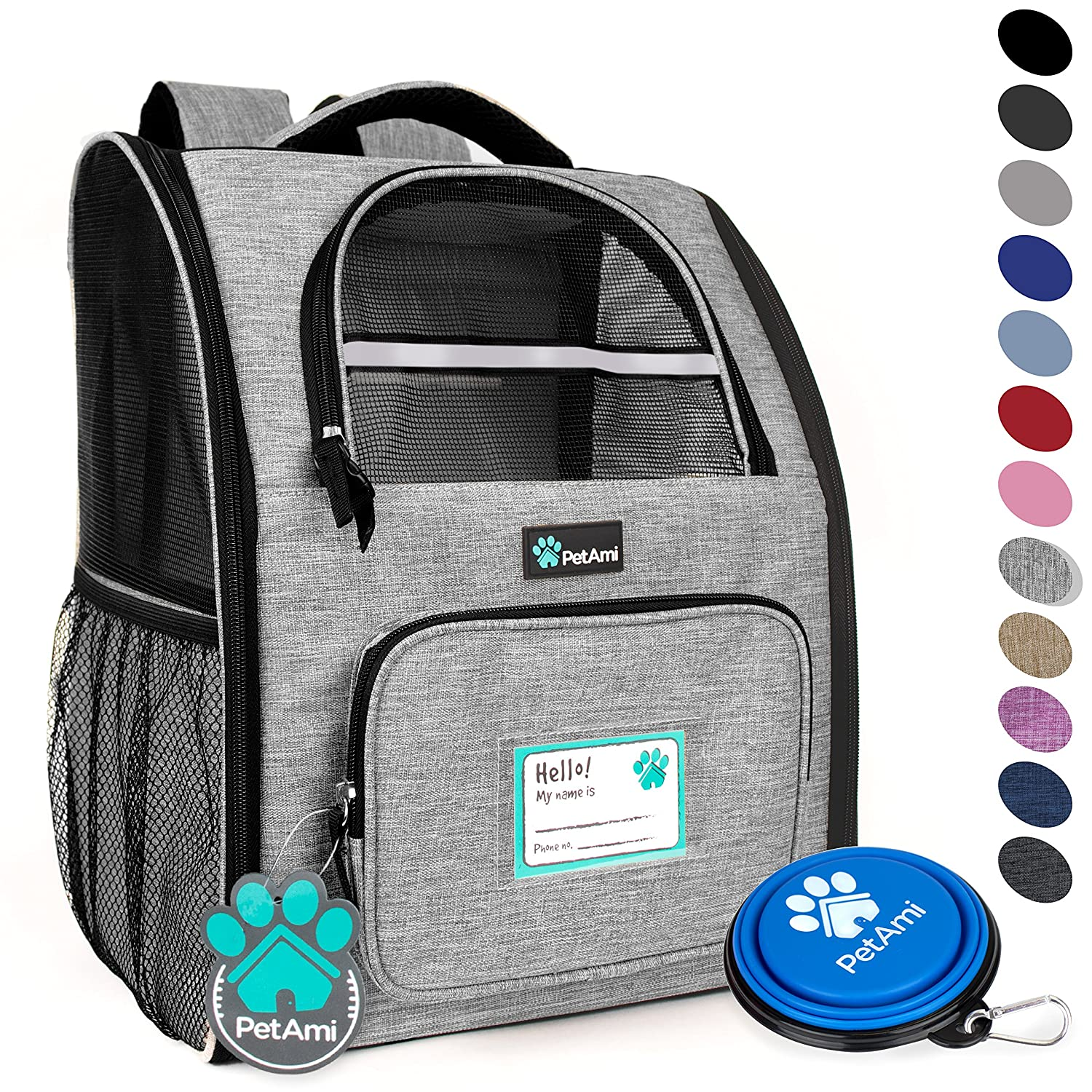 1ffee254d39 Amazon.com   PetAmi Deluxe Pet Carrier Backpack for Small Cats and ...