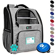 PetAmi Deluxe Pet Carrier Backpack for Small Cats and Dogs, Puppies | Ventilated Design, Two-Sided Entry, Safety Features and Cushion Back Support | for Travel, Hiking, Outdoor Use