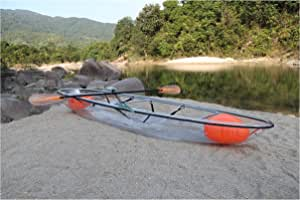Amazon.com: ClearYup Sit On Top Kayak - Canoa transparente ...