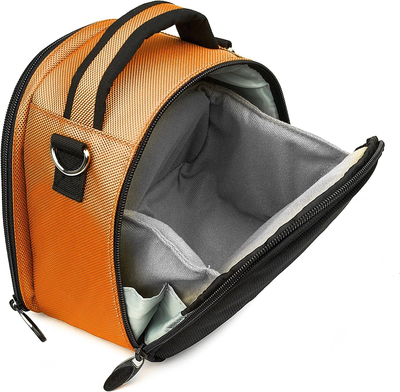 Ultralight Camera Case Navy Blue Bag with Attachable Strap for Ricoh WG M2 GR II WG 50 WG 5 GPS WG 30 Wi fi Theta V SC S m15