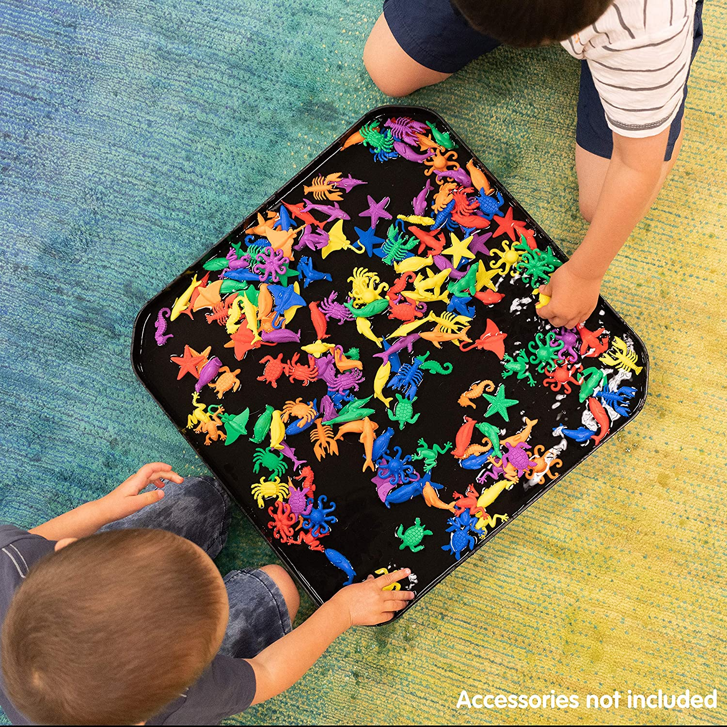 Manipulatives edxeducation-LAD-115 Fun2 Play Tray Infinite Black Chalkboard for Kids Sensory and Activity Table for Use with Our Fun2 Play Sand and Water Fine Motor Skills Explore Art