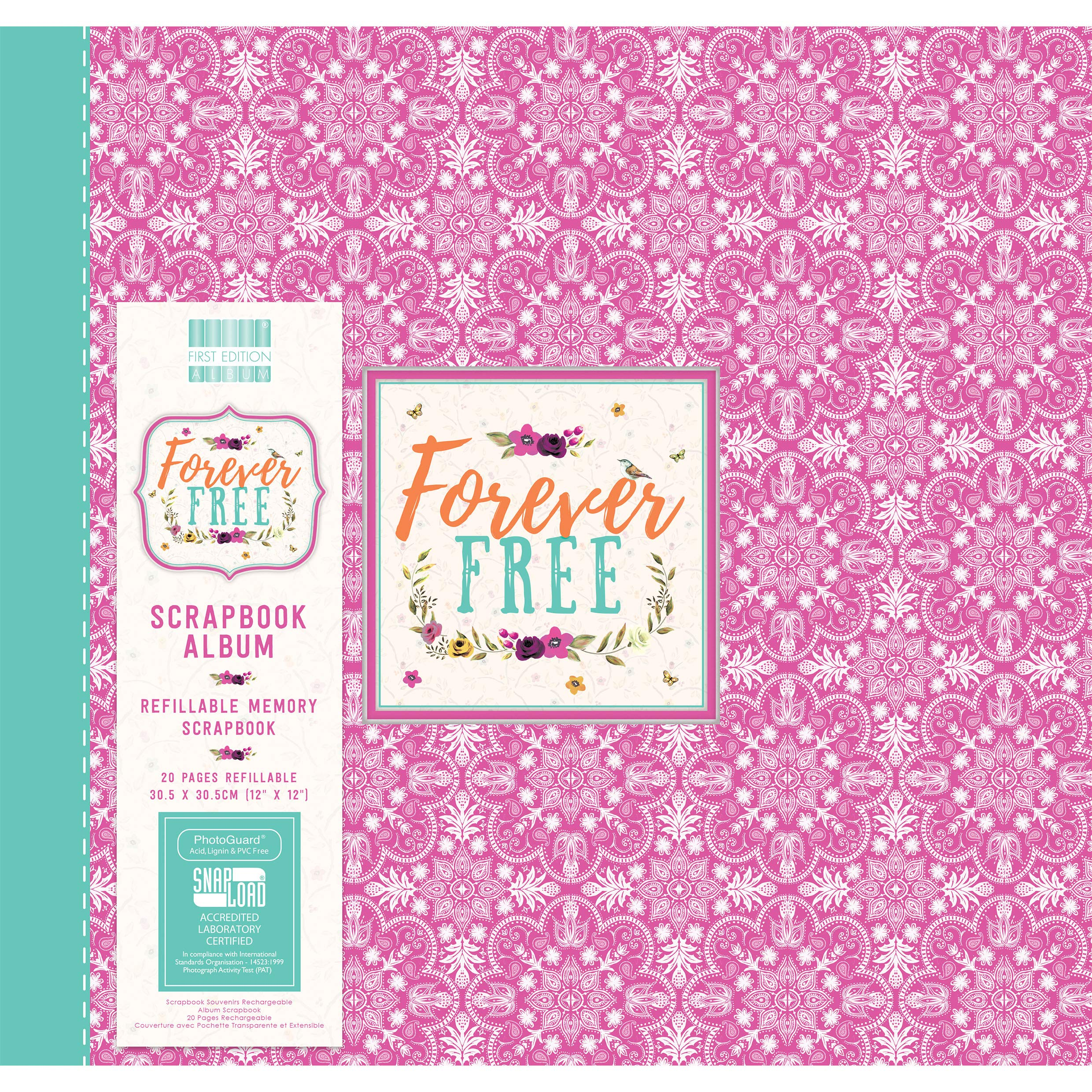First Edition Forever Free - Mandala Scrapbook Album 12''x12'' (Snap Load)