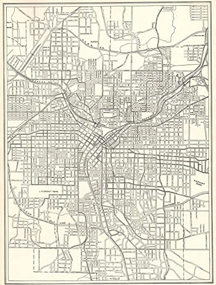 Amazoncom Antique Atlanta Georgia Map Original Vintage Map - Georgia map 1918