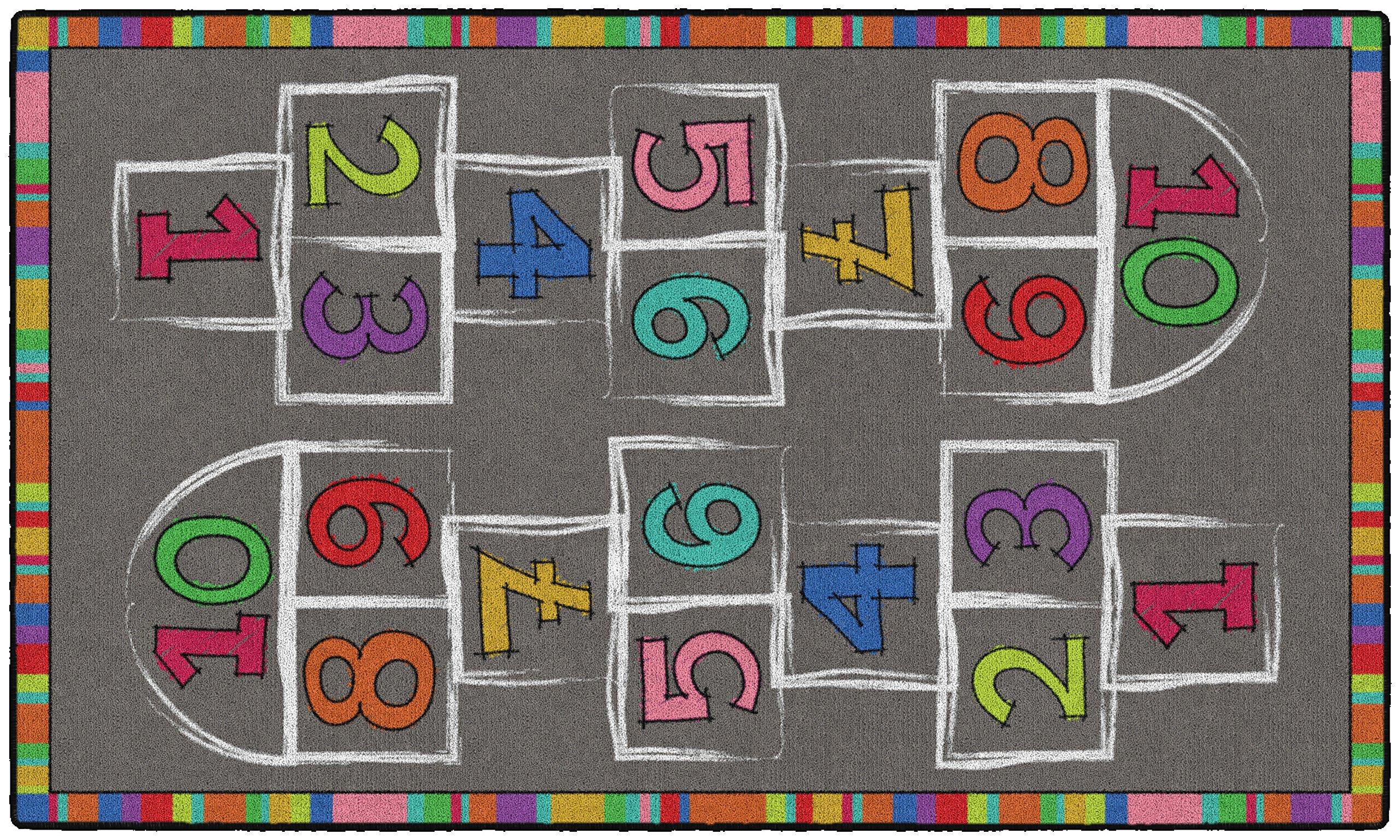 Flagship Carpets CE486-16W Hopscotch, Multi