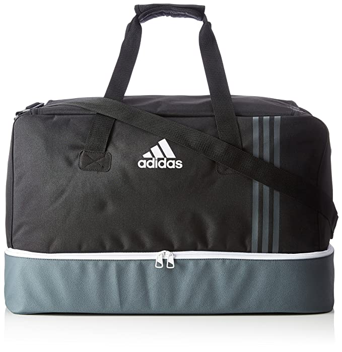 b4831d27b0 Adidas Tiro Bottom Compartment Teambag - Black Dark Grey White ...