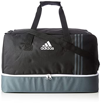 Adidas Tiro Bottom Compartment Teambag - Black Dark Grey White, Large 60 8351a89842