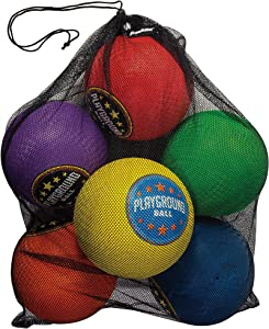 "Franklin Sports Playground Balls - Rubber Kickballs and Playground Balls For Kids - Great for Dodgeball, Kickball, and Schoolyard Games – 8.5"" Diameter"