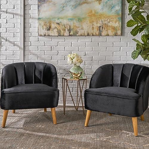 Christopher Knight Home Scarlett Modern Velvet Club Chairs Set of 2