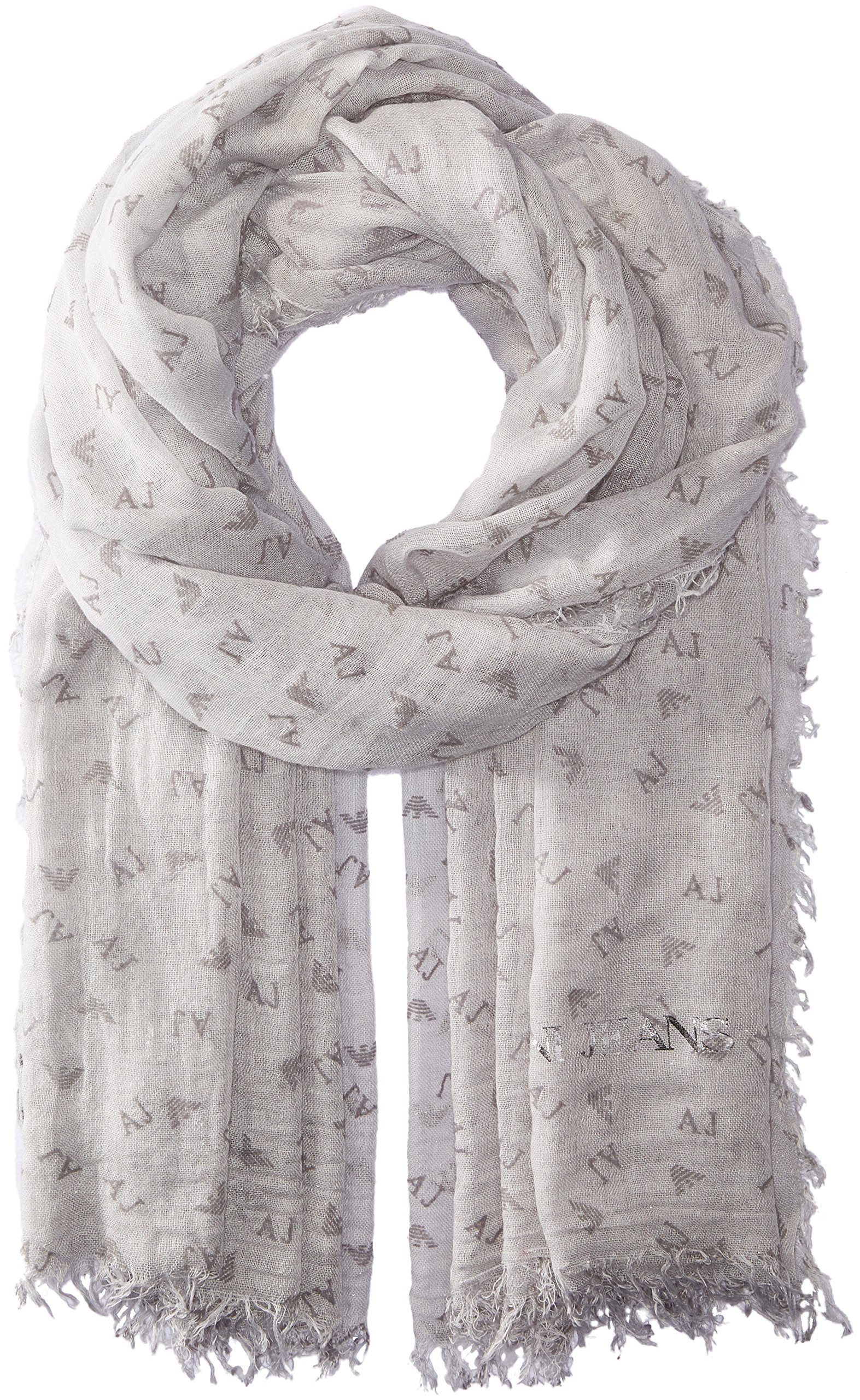 Armani Jeans Women's Rose Print Woven Scarf, medium grey, One Size