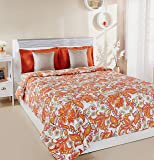 Amazon Brand - Solimo 100% Cotton Printed Comforter, Double (Trellis Tales, 200GSM)