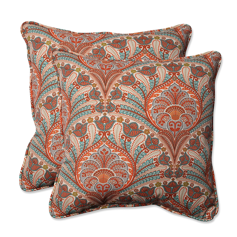 pillow designs lumbar carousel navy large animals and woodland orange