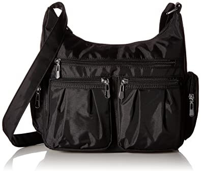 Scarleton Multi Pocket Shoulder Bag H140701 - Black: Handbags ...