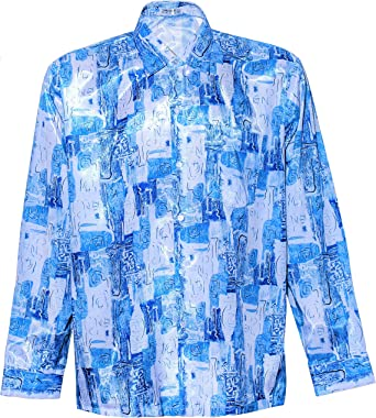 Thai Silk - Camisa casual - Cachemir - con botones - para ...