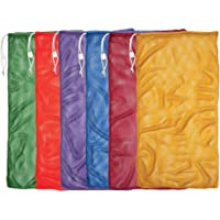 1e5be0c056a6 Champion Sports Durable Mesh Drawstring Sports Equipment Bag – Multiple  Colors and Sizes