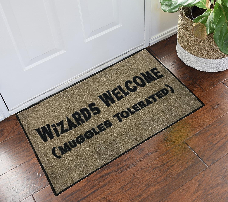 Amazon doormats outdoor dcor patio lawn garden harry potter wizards welcome muggles tolerated 2x3 doormat kristyandbryce Images