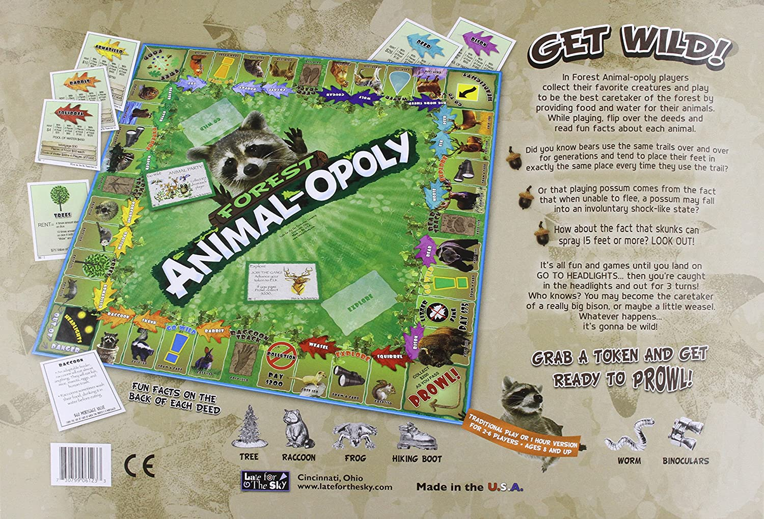 amazon com forest animal opoly toys u0026 games