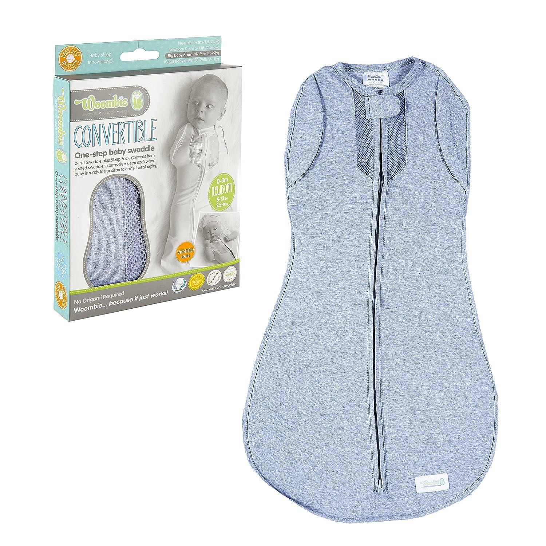 Woombie - Mono convertible con ventilación Baby Cocoon para bebé (de 0 a 3 meses, azul, sueño sobre): Amazon.es: Bebé