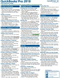 QuickBooks Pro 2018 Quick Reference Training Card - Laminated Tutorial Guide Cheat Sheet (Instructions and Tips)