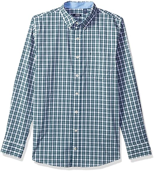 Men/'s IZOD Big /& Tall Sport Flex Non-Iron Long Sleeve Button Front Shirt