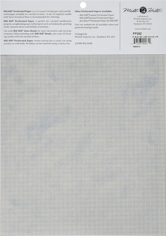 Mill Hill - Pack de 2 Papeles Perforado para Costura (14 CT, 22,8 ...