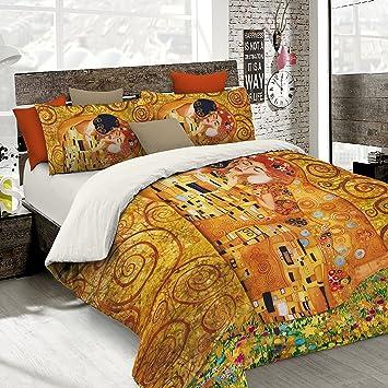Come Cucire Un Sacco Copripiumino.Italian Bed Linen Parure Copripiumino Con Stampa Digitale A