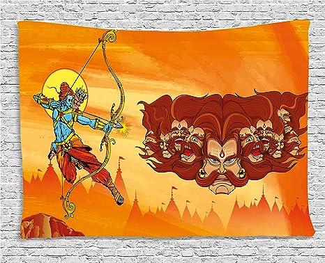 La Credenza Religiosa : Etnico arazzo by ambesonne mitologia battle scene mighty figura