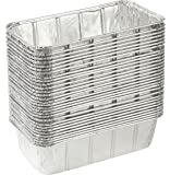 Aluminum Foil Pans - 30-Piece Rectangular Disposable Pans for Baking, Roasting, Broiling, and Cooking Cakes, Loaves, Bread, Lasagna, 8.5 x 2.5 x 4.5 Inches