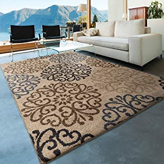 """product image for Orian Moving Medallions Area Rug, 7'10"""" x 10'10"""", Blue"""