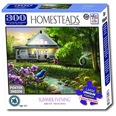 The Jigsaw Puzzle Factory Homesteads - Summer Evening, Multicolor: Toys & Games