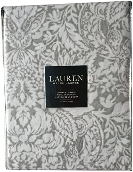 0140bda1 Image Unavailable Not Available For Color Ralph Lauren Provencal Damask  Grey Gray Shower Curtain