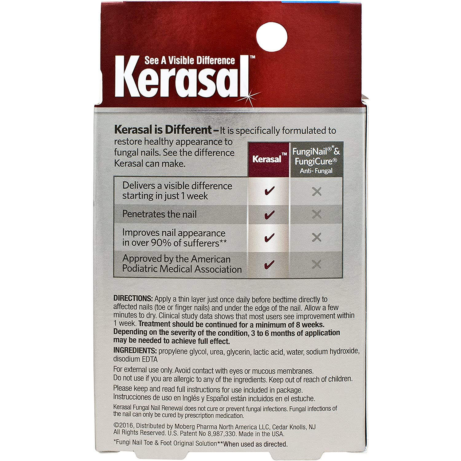 Amazon.com: Kerasal Fungal Nail Renewal Treatment 10ml, Restores the ...