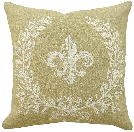 Amazon.com: 123 Creaciones 100% lino Francés Fleur De Lis ...