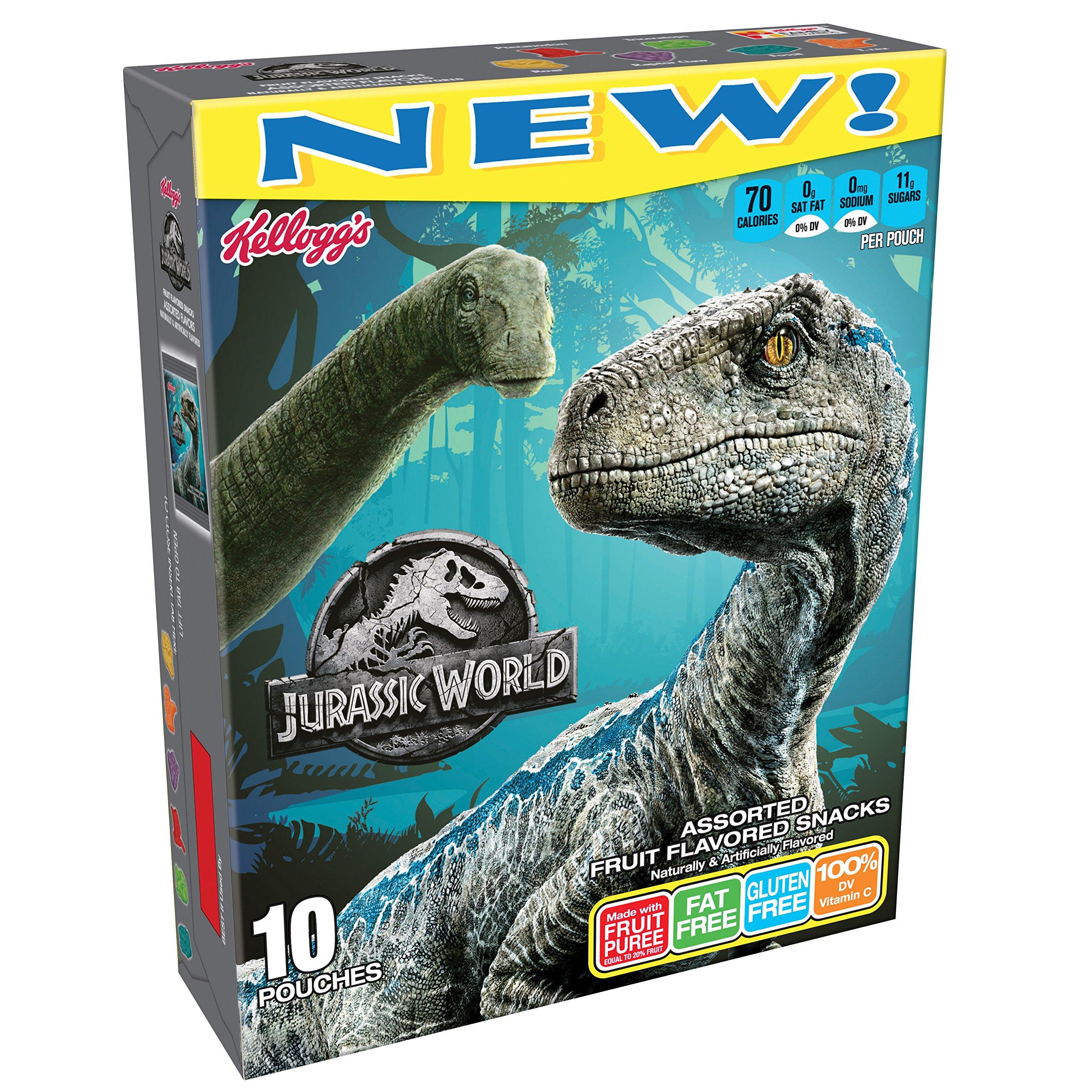 Kellogg's Jurassic World Ii, Fruit Flavored Snacks, 8 Oz, 10 Ct